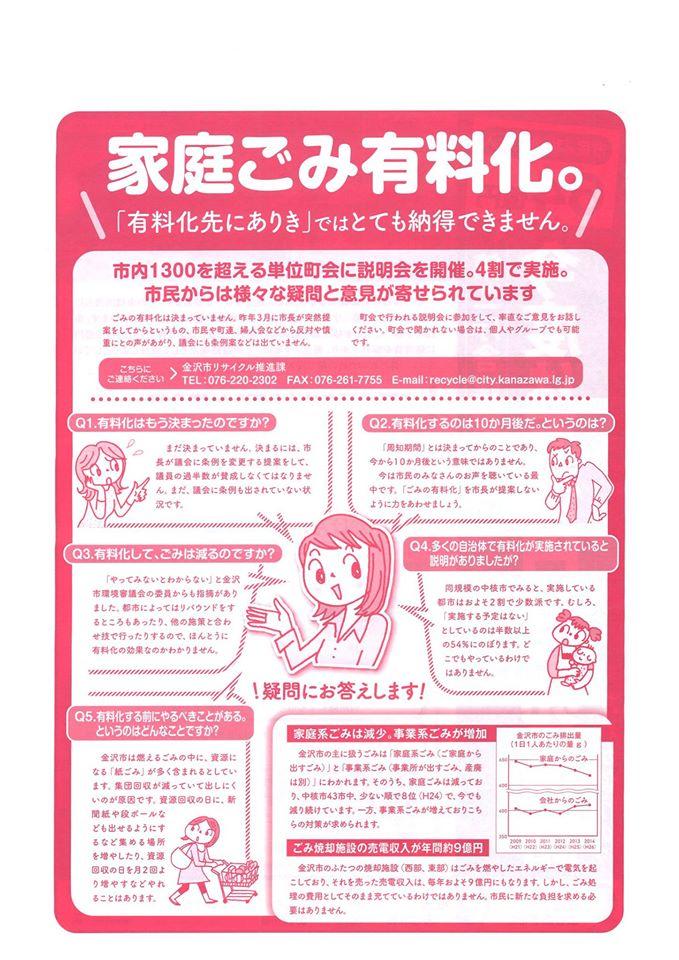 (11B0)家庭ごみ有料化市議団ニュース
